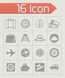 Vector Travel icon set Stock Photos