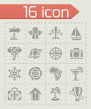 Vector Travel icon set. On grey background Royalty Free Stock Image