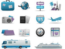 Vector travel icons Royalty Free Stock Photography