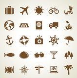Vector travel icons Stock Images