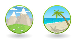 Mountains Icons Royalty Free Stock Images - Image: 32902399