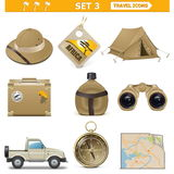 Vector Travel Icons Set 3 Stock Photography