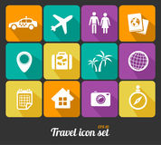 Vector Travel icons set Royalty Free Stock Photos