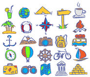 Vector travel icons Royalty Free Stock Images