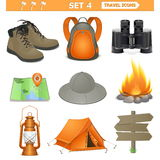 Vector travel icons set 4 Royalty Free Stock Images