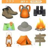 Vector travel icons set 4 stock illustration