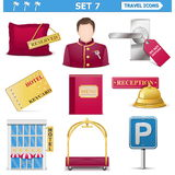 Vector travel icons set 7 Stock Images