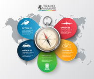 Vector travel infographic. Stock Image