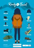 Vector travel items and objects Stock Illustration