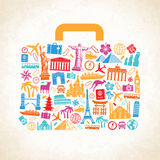 Vector Travel luggage concept Stock Image