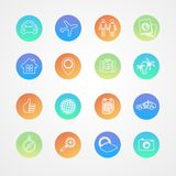 Vector travel outline icon set Royalty Free Stock Image