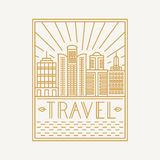 Vector travel poster design template Royalty Free Stock Photos