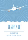 Vector travel poster template Royalty Free Stock Image