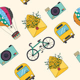 Vector  travel seamless pattern. Stock Photography