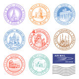 Vector Travel stamps vector illustration