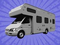 Vector travel truck Stock Image