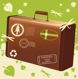 Vector traveling bag eco Royalty Free Stock Image