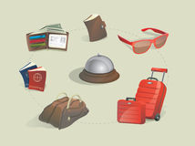 Vector traveling icon set Royalty Free Stock Photo
