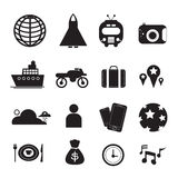 Vector Traveling icons for Web and Mobile Royalty Free Stock Image