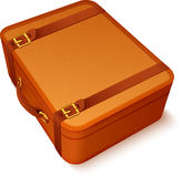 Vector traveller's brown leather suitcase Royalty Free Stock Photo
