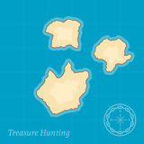 Vector Treasure Map Background Royalty Free Stock Photography