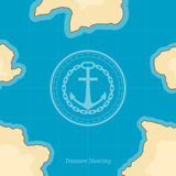 Vector Treasure Map Background Royalty Free Stock Images