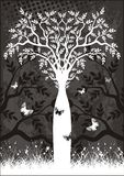 Vector tree. A nice designed vector tree Royalty Free Stock Photography