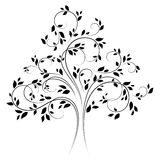 Vector tree 4 (black) Royalty Free Stock Image