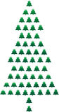 Vector Tree Background. Vector file of Pine Tree Royalty Free Stock Photo
