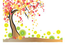 Vector tree background Royalty Free Stock Photos