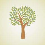 Vector tree Royalty Free Stock Photos