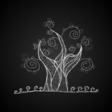 Vector tree, black and white color Stock Photos