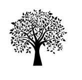 Vector tree in black and white Royalty Free Stock Photography