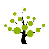 Vector tree. With blank round labels vector illustration
