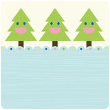 Vector tree of christmas card Stock Photo