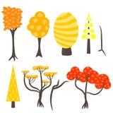 Vector tree clip art nature set. Stock Images