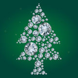 Vector tree of diamonds on a green background Stock Photography