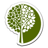 Vector tree emblem 1 Royalty Free Stock Photos
