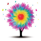 Vector tree with flower Stock Image