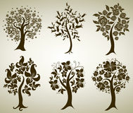 Vector tree from flowers Royalty Free Stock Images