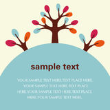 Vector Tree Flyer/Poster Template Royalty Free Stock Photo