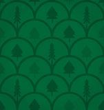 Vector tree on green background Royalty Free Stock Photos