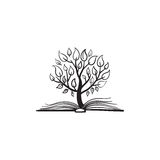 Vector tree growing of a book Stock Illustration