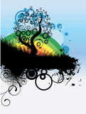 Vector tree illustration Stock Images