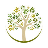 Vector tree 17. Illustration in vector Royalty Free Stock Photos