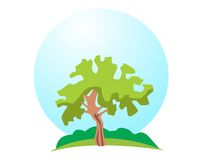 Vector tree logo Royalty Free Stock Photography