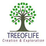 Vector tree logo illustration isolated on a white background Royalty Free Illustration