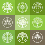 Vector tree logo set Stock Images