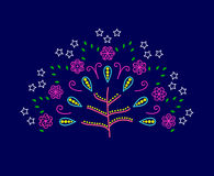 Vector tree of love with abstract flowers Stock Photo