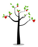 Vector tree in love Stock Photography
